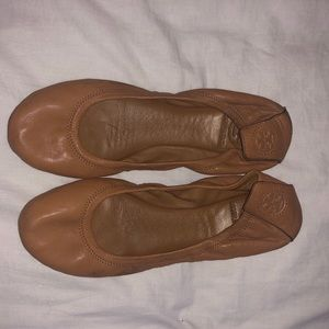 Tory Burch Shoes - TORY BURCH Camel Ballet Flat - Size 7.5 Women's